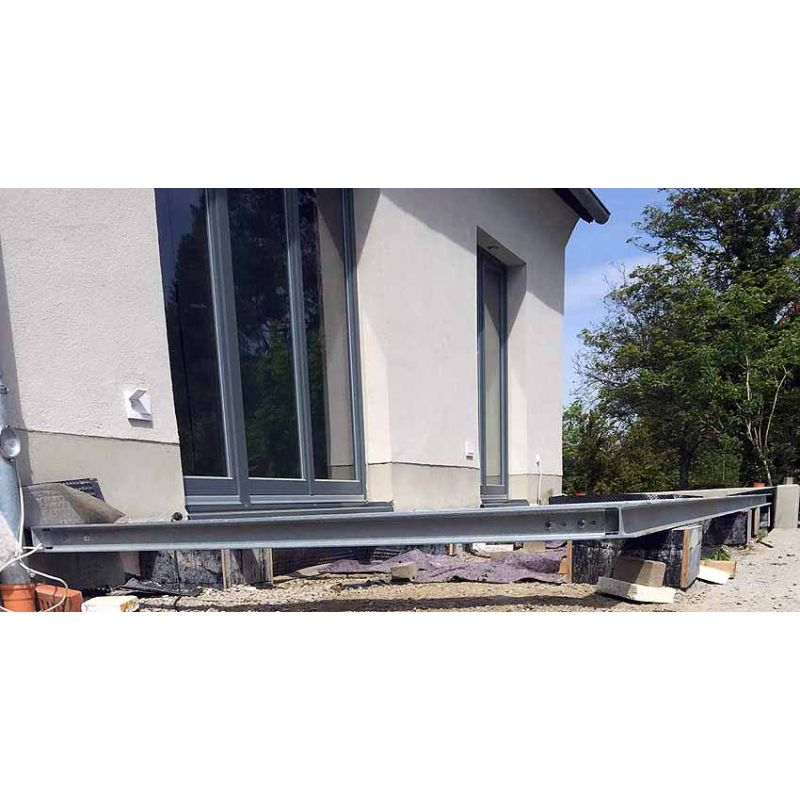 terrasse 4m 15m unterkonstruktion stahl verzinkt siku. Black Bedroom Furniture Sets. Home Design Ideas