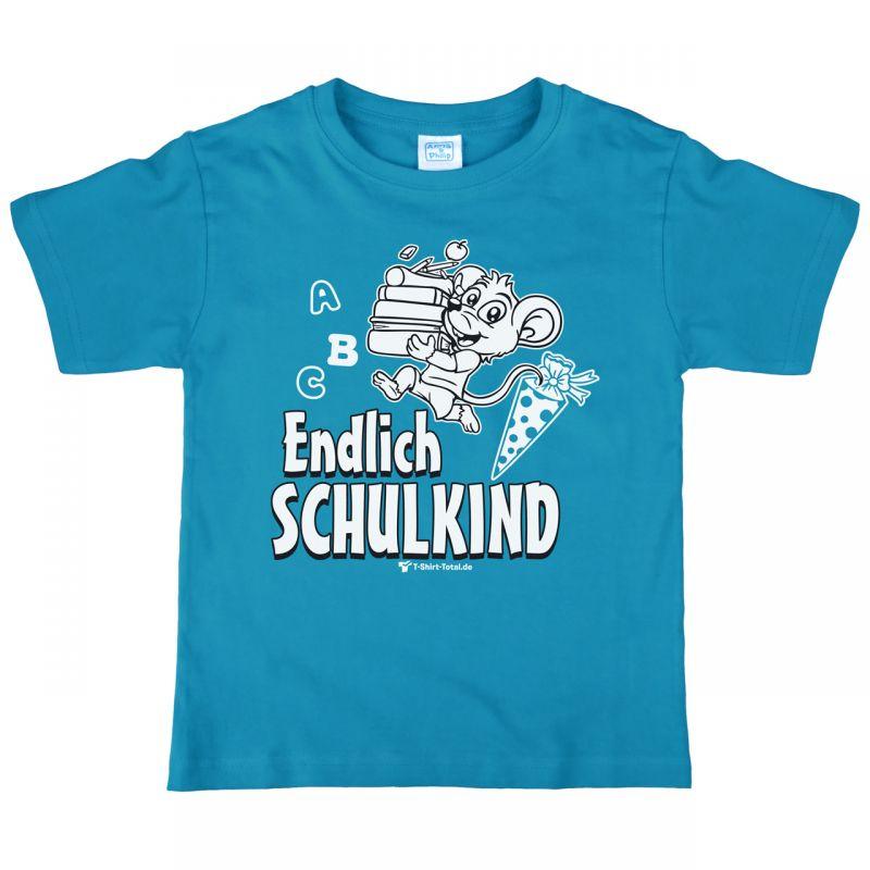 Kinder T Shirt Zum Schulanfang Mit Spruch Endlich Schulkind Tür