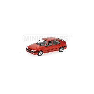 400113700 MINICHAMPS 1:43 RENAULT 19 1992  RED