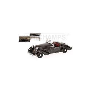 437019131 Minichamps 1:43 AUDI FRONT 225 ROADSTER  BLACK