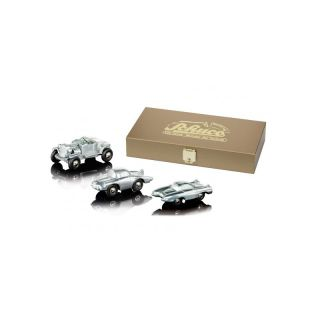 05956 Schuco Piccolo 1:90 Ford Hot Rod, Firebird II & FX Atmos Edition 100 in Holzkiste